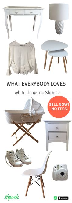 6733723bd No wonder white things are everyone's favourites - they fit perfectly to  everything! Sell them on Shpock easily! No fees.
