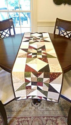 Fall Quilt Pattern PDF Table Runner Wall par MapleCottageDesigns