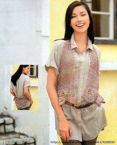 Entre um Fio e Outro: Bolero em Crochê crochet vest or bolero
