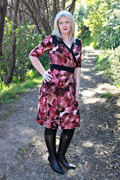 """Gillian wrap dress – Muse Patterns drafted for 5'10"""" and some patterns have a D cup. It looks like I'm right between 38 and 40"""