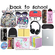 Back To School: Essentials - Polyvore @ http://www.truelightcollection.com/