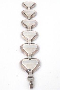 Georg Jensen, Denmark - vintage heart link bracelet #bracelet #Denmark #Georg-Jensen