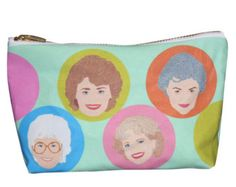 GOLDEN GIRLS tv show makeup bag lil' purse... original illustration