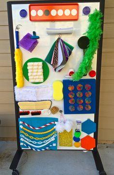 Panel sensorial colorido