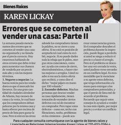 Amigos, los invito a leer mi columna en el distinguido periódico La Visión. Esta semana continuamos hablando acerca de errores que se cometen al vender una casa. Disfruten!