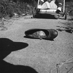 Vivian Maier - Self Portrait, July 1956, (shoe)