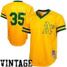 Mitchell   Ness Rickey Henderson Oakland Athletics 1981 Authentic  Cooperstown Collection Batting Practice Jersey - Gold 685690668