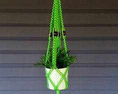 Macrame plant hanger Purple by CutchysCraftCorner on Etsy