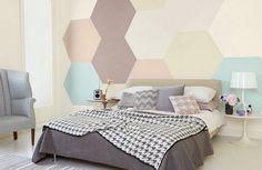 Casinha colorida: Tendência 2016: pintando as paredes com padrões geométricos…