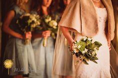 Mountain Wedding, bride with vintage wrap