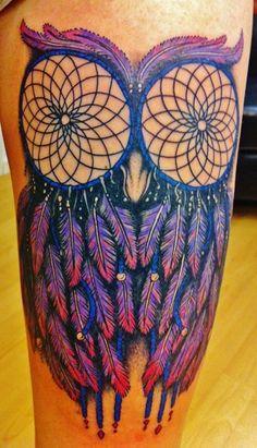 owl dream catcher tattoo i love this