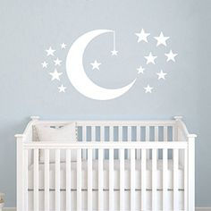 Moon and Stars Wall Decals Baby Room Nursery Clouds Wall Vinyl Decal Stickers Playroom Kids Children Bedroom Murals Home Decor Best_WallDecals_For_You http://www.amazon.com/dp/B00WDC5LKM/ref=cm_sw_r_pi_dp_SWa4vb080FBEZ