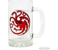 Game Of Thrones verre à bière Fire And Blood Targaryen