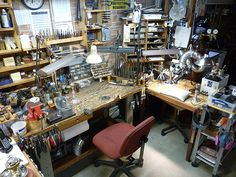 Herman Silver Restoration & Conservation: Shop Views -- After visiting his shop, I can attest to how clean he keeps it.  Extremely organized and clean, not a speck of dust in sight.