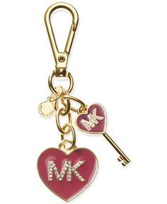 81379c57cb92a MICHAEL Michael Kors MK Enamel Heart Keychain Handbags   Accessories -  Macy s