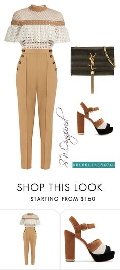 """Sarah Inspired #4"" by kriaaaa on Polyvore featuring self-portrait, MICHAEL Michael Kors and Yves Saint Laurent"