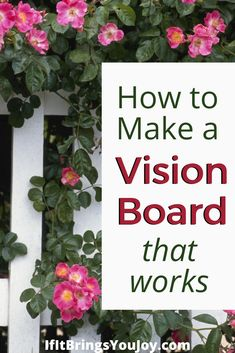 Vision boards are a powerful tool to help you visualize and manifest what you want to bring to your life. When you get inspired to take action, watch out because it'll be effortless and powerful! Learn the secret to making your vision board work! #visionboard