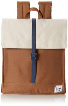 Herschel City, Damen Tasche, Mehrfarbig (caramel/natural/navy), One Size
