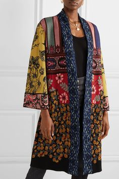 Multicolored jacquard-knit Slips on viscose, wool, polyester, polyamide, metallic fibers Dry clean Made in Italy Kimonos Fashion, Boho Fashion, Womens Fashion, Bohemian Mode, Bohemian Style, Boho Chic, Kimono Diy, Moda Hippie, Estilo Boho