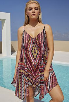 Plus Size Swimdress - Becca ETC Caravan Tank Coverup
