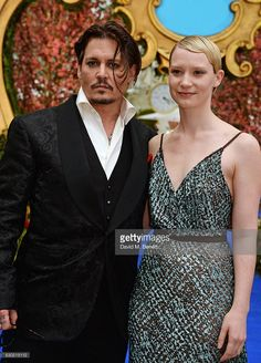 Johnny Depp (L) and Mia Wasikowska attend the European Premiere of 'Alice Through The Looking Glass' at Odeon Leicester Square on May 2016 in London, England. Ruth Wilson, Mia Wasikowska, Leicester Square, Sweeney Todd, Lily Rose Depp, Jane Eyre, Golden Globe Award, Through The Looking Glass, Best Actor