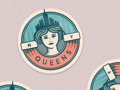 Queens, NY designed by Eli Voca. the global community for designers and creative professionals. Business Logo Design, Branding Design, Logo Face, Horse Logo, Birthday Card Design, Publication Design, Typography Logo, Circle Design, Creative Logo