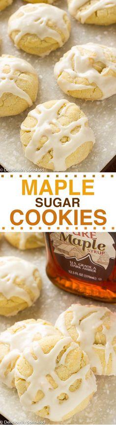 The BEST Maple Sugar Cookies