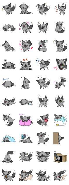Silver Fox - LINE Creators' Stickers