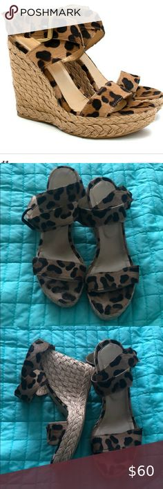 Stuart Weitzman Pony hair leopard wedges Size 8.5 Excellent condition  Size 8.5 Stuart Weitzman Shoes Espadrilles
