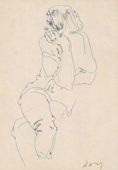 contour line drawing by Nikolai Blokhin - love the touch on these lines