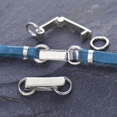 Sterling Silver Fold-Over Clasp with Attach Rings