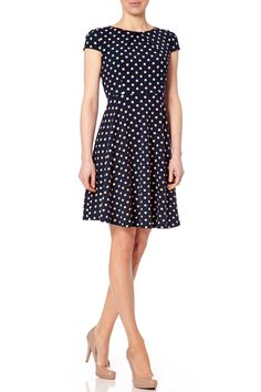 Polka Dot Cara Flare dress