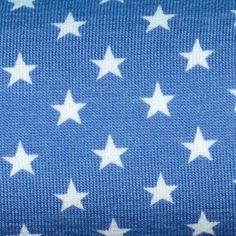 MINI STARS Weiß auf Jeansblau