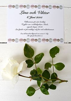 Wedding invitation by Elina Dahl. shop.elinadahl.com