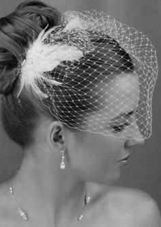 Idea for fasinator/birdcage viel - How I want my veil to look on my wedding day ;)