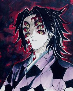 Kokushibou, Kimetsu no Yaiba Manga Anime, Anime Guys, Anime Art, Demon Slayer, Slayer Anime, Noctis, Samurai Art, Demon Hunter, Goth Art