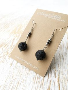 Silver Lava Stone Earrings, by MartyTribble on Etsy Boho Jewelry, Jewelry Gifts, Beaded Jewelry, Diamond Jewelry, Jewlery, Bar Stud Earrings, Gemstone Earrings, Flower Earrings, Black Earrings