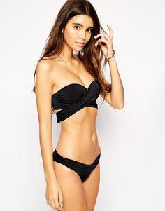 Immagine 1 di ASOS - Top bikini a fascia con incrocio