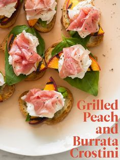 Grilled Peach and Bu