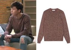"""Park Seo-Joon in """"Witch's Romance"""" Episode Sandro Telepathic Orange Sweater Witch's Romance, Seo Joon, Orange Sweaters, Sandro, Dramas, Turtle Neck, Park, Clothes, Tops"""