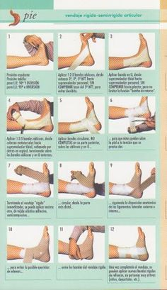 VENDAJES                                                       … - #VENDAJES Medicine Student, Sports Medicine, First Aid Tips, Survival Life Hacks, Sports Therapy, Volleyball Workouts, Kinesiology Taping, Medical Anatomy, Sprained Ankle