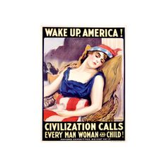 Wake Up, America Giclee Print Wall Art ($60) ❤ liked on Polyvore featuring home, home decor, wall art, artists, giclee poster and giclee wall art