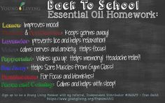 Back to School Young Living Essential Oils  --- Click link to order oils:   https://www.youngliving.com/signup/?site=US&sponsorid=1745108&enrollerid=1745108