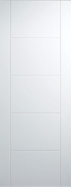 Florida White Internal Door 35mm engineered solid core flush non-fire rated internal white primed door with 5mm vertical and horizontal v-grooves creating a flush 5 panel effect door design. Supplied white primed ready for on-site finishing. Available in standard imperial sizes with 10 years manufacturing guarantee. Contemporary stylish premium primed door with sleek lines creating a sophisticated yet elegant design at truly affordable prices. This double primed door is available in a ...
