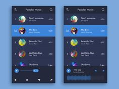 Music Player Inspiration — April 2017 – Collect UI – Medium