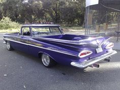 59 El Camino. My first Car/truck only mine was Red.  It drove like a boat and made the same sound as a boat.
