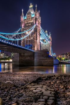 London  bridge by night, London, England