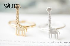 SMJEL 10 PCS/lot-R203 Wholesale Europe and the United States Fashion Jewelry Deer Ring Giraffe Ring Accessories Free Shipping. #Affiliate