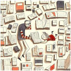 Non avete mai tempo per leggere o per stare con i vostri figli? Potete sempre unire le due cose.