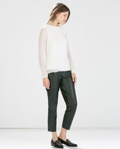 Image 1 of LONG-SLEEVED TOP from Zara